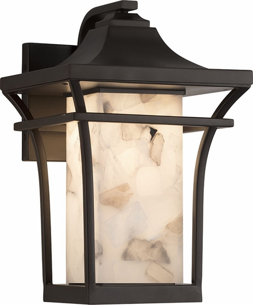 Justice Design Group Summit 1275 Exterior Wall Sconce Alabaster