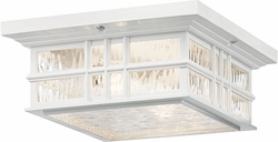 Kichler Beacon Square Outdoor Ceiling Fixture 49834WH