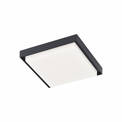 "Kuzco Ridge 8.25"" LED Flush Mount Outdoor Light - Black EC34509-BK"
