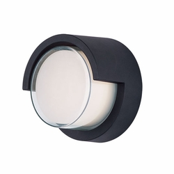 "Maxim Eyebrow LED 6.75"" Outdoor Wall Light 86162BK"