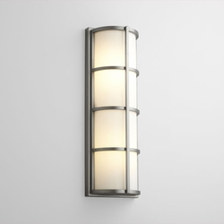 "Oxygen Leda 21.75"" Large Outdoor Wall Sconce - Nickel 2-713-224"