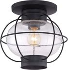 Quoizel Cooper Exterior Ceiling Light - Black COR1611K