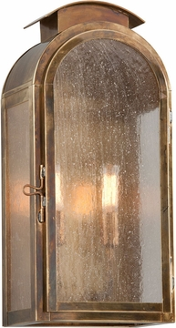 """Troy Copley Square 17.75"""" Fluorescent Exterior Wall Sconce - Brass BF4402HBZ"""
