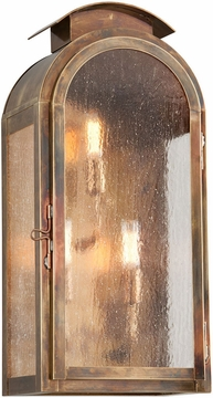 """Troy Copley Square 20.75"""" Fluorescent Exterior Wall Light - Brass BF4403HBZ"""