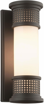 "Troy Mcqueen Fluorescent 13"" Exterior Wall Light BF4671"