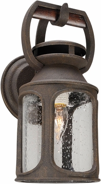 "Troy Old Trail Fluorescent 14"" Outdoor Wall Sconce Lighting BF4511"
