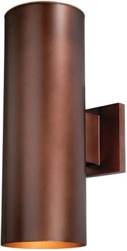 "Vaxcel Chiasso 14.25"" Outdoor Light Sconce - Bronze CO-OWB052BZ"