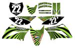 Swirl Series Fast Times KLX110/L 2010-2020 Graphics Kit (Green)