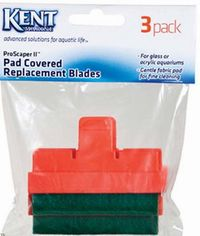 Kent Marine ProScraper & ProScraper II Replacement Pad Covered Blades - 3 Pack (Glass or Acrylic)