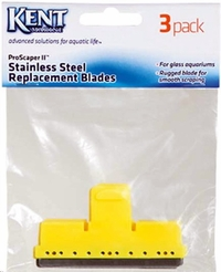 Kent Marine ProScraper & ProScraper II Replacement Stainless Steel Blades - 3 Pack (Glass Aquariums Only)