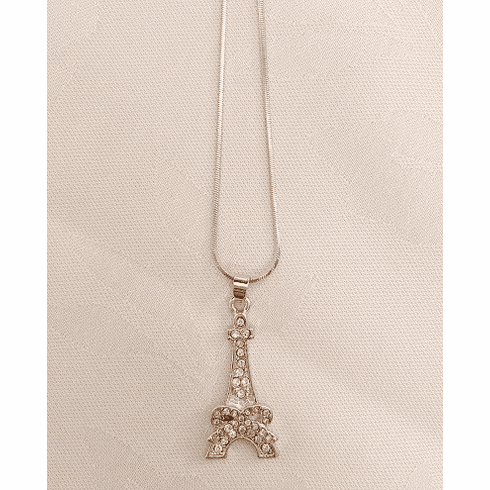 Bow Eiffel Tower Necklace
