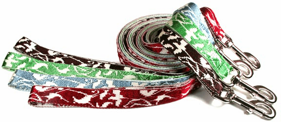 "Bamboo & Nylon Lead/Leash Large 1"" 6 foot. Price includes free shipping."