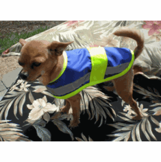 Dog Cat Pet Reflective Safety Vest, Price includes free shipping, 10.5 Inch long and up to 18 Inch wide X Small Dog vests 13 lbs to 19 lbs Shih Tzu, Pug, Pekingese and Schnauzer type dogs outside USA add $5