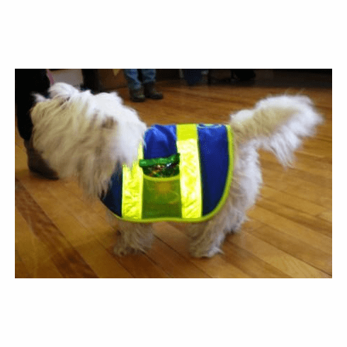 Dog Cat Pet Reflective Safety Vest, Price includes free shipping, 14 Inches long and up to 28 inches wide Medium Dog Vests, 31 lbs to 43 lbs Brittany Spaniel, and Wheaten Terrier type dogs outside USA add $5