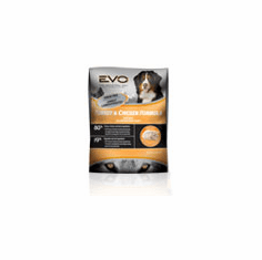 EVO Natura Adult Original Turkey and Chicken Large Bites Dry Dog Food  is available in 6.6 lb., 13.2 lb. and 28.6 lb. packages