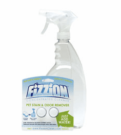 FiZZiON Concentrated Cleaner, Carpet Stain Remover, Pet Stain Cleaner order Bottle or two pack of tablets from $8.98 (shipping included)
