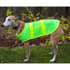 Greyhound Dog Reflective Safety Vest, Price includes free shipping,  (24 inches long by upto 35 inches wide)  Large over 80 lbs.