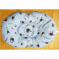 Kat -a- Pillo® Duo bed kitty can really melt into. size 17 inches wide 25 inches long 3 inches high