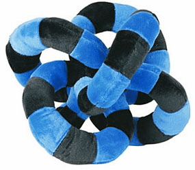 Loopies Large 10 inch Blue and Black circles run and fetch Toy #0949