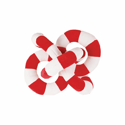 Loopies Red and White large 8 inch toss and fetch toy