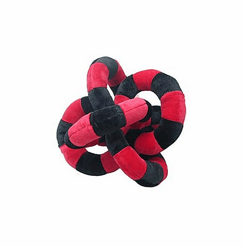 Loopies small 6 inch Red and Black circles #0549rbc