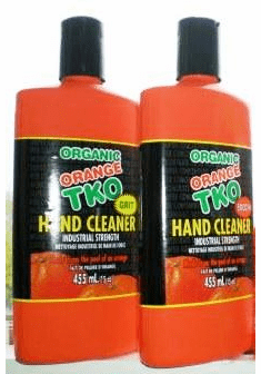 Orange TKO Industries 100% Organic Hand Cleaner Cleaning Power 15 oz. 1006 Uses