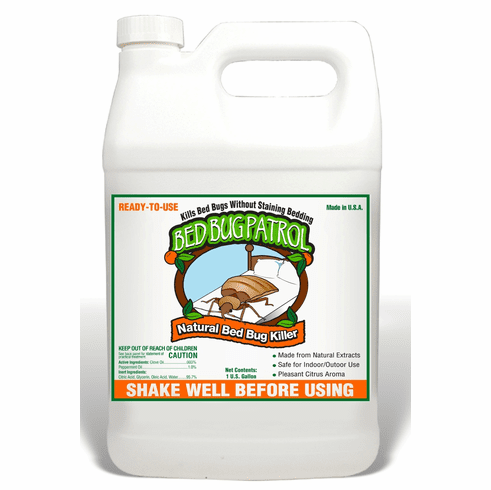 "Patrol Bed Bug Natural Killer, Bedbugs are known as ""THE LITTLEST VAMPIRES"".© They love your blood and strike only while you're a sleep!!!! 1 Gallon jug includes free shipping"