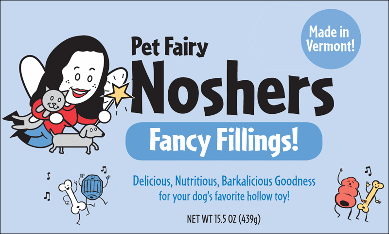 Pet Fairy Noshers, a healthy and delicious filling for hollow Play toys.  Is your dog tired or board with the same old Play toys add some fun with Pet Fairy Noshers..Made in Vermont