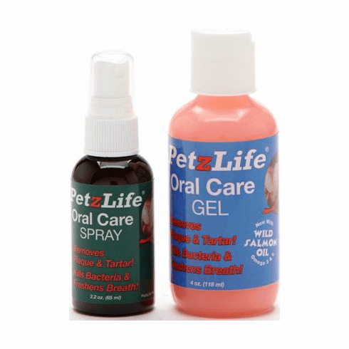 PetzLife Oral care Spray and Salmon Oil Gel 2 pack