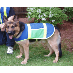 Reflective Hunting Dog vests, Price includes free shipping, 19.5 Inches long and up to 39 inches wide XX Large, 71 lbs to 91 lbs German Shepherd and Labrador Retriever type dogs. outside USA $5