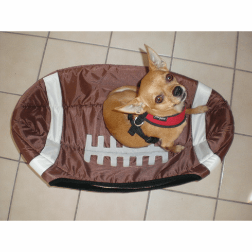 Small pet, dog & cat bed Football style. (Includes Free shipping)