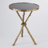 Meadow Stick Table | Brass & Granite