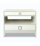 Adams Side Table, Painted w/Contrast Drawers