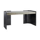 Afara Two-Tone Curved Desk