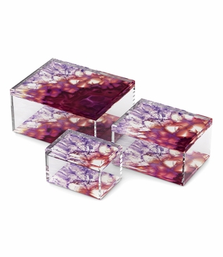 Agoura Lucite Boxes   Amethyst