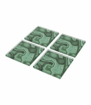 Agoura Lucite Coasters Set | Malachite