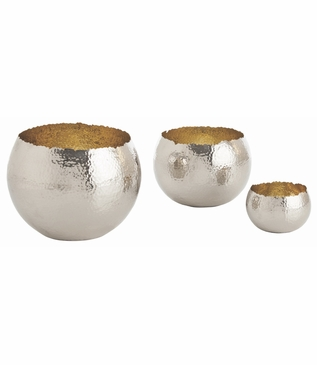 Alexa Metal Nesting Bowls | Nickel