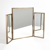 Alfie Vanity Mirror | Antique Brass