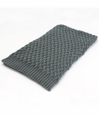 Alpine Woven Cotton Throw | Grey