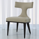 Alton Side Chair | Ivory Leather