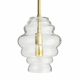 Amelia Ribbed Glass Pendant | Clear