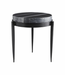 Apollo Short Side Table | Black Marble