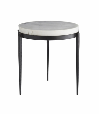 Apollo Short Side Table | White Marble