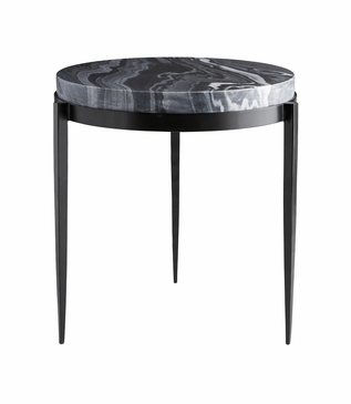 Apollo Tall Side Table | Black Marble