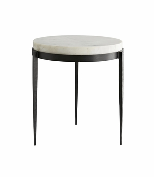 Apollo Tall Side Table | White Marble