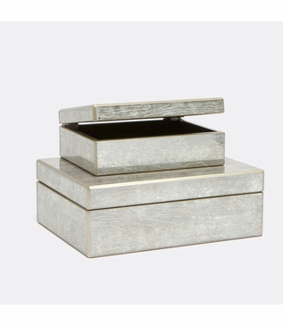 Arbor Mirrored Boxes Set | Silver