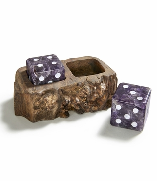 Casino Amethyst Dice Set