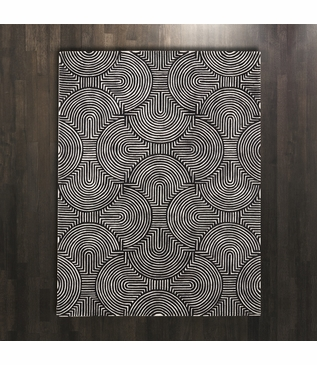 Archon Wool Rugs | Black