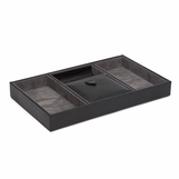 Argus Leather Valet Tray | Black Lizard