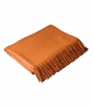 Ashleigh Alpaca Throw | Orange